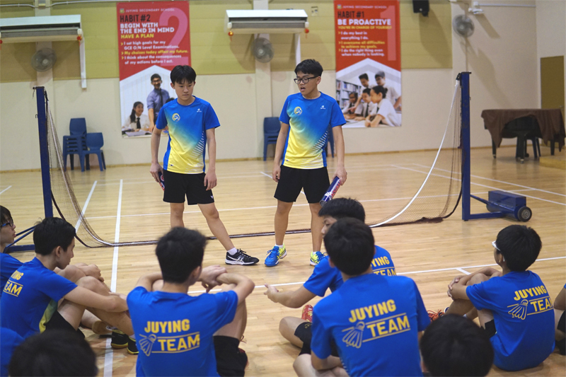 Boys Sec 4s leading the physical activities.JPG