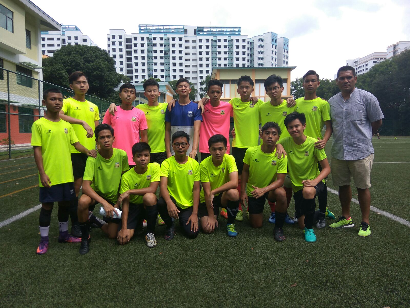 B_ Division Team photo before friendly match with Coach Andre, (21 Aug 2017)
