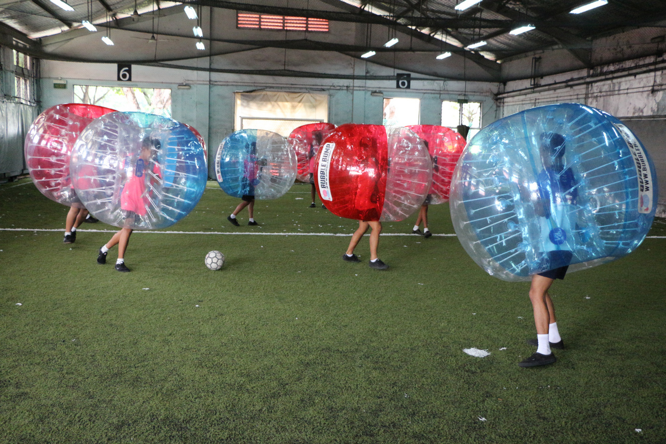 Bubbleball Soccer in play (12 May 2017)